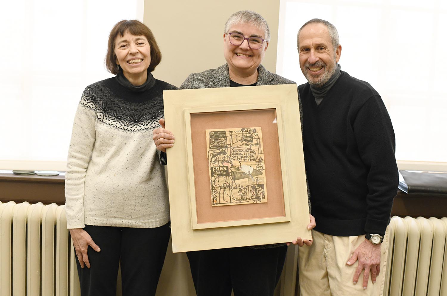 Rare Bearden collage donated to Special Collections & Archives in honor of director